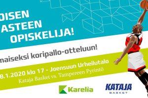 Ilmaiseksi Joensuun Katajan korismatsiin 18.1.