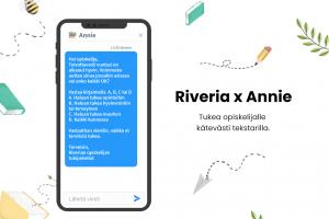 Annie-tekstarikysely tarjoaa tukea Riverian opiskelijoille