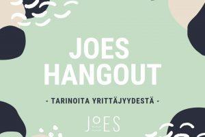 JoES Hangout: Tarinoita Yrittäjyydestä 15.9. Sparkissa!